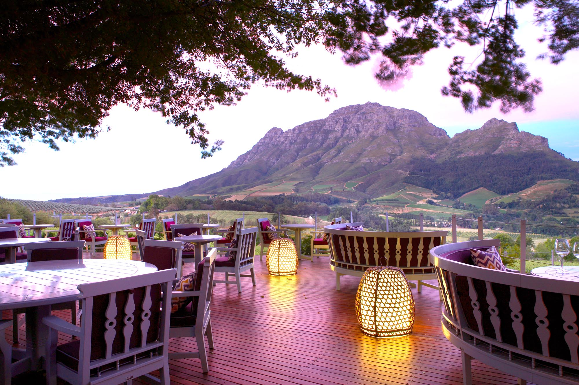 Delaire Graff Estate - Restaurant Deck