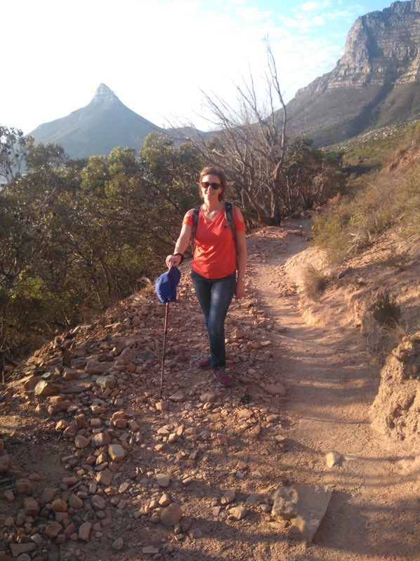 Luxury Travel Manager, Kay, on a hiking trial